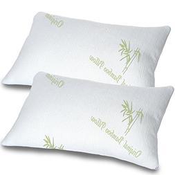 Bamboo Pillows for Sleeping Set of 2 - Standard Queen Size -