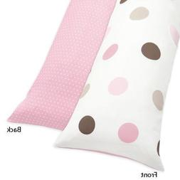Sweet Jojo Designs Pink and Brown Mod Dots Full Length Doubl
