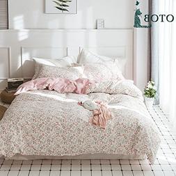 OTOB Pink Kids Girls Twin Bedding Sets Cotton Floral Twin Du