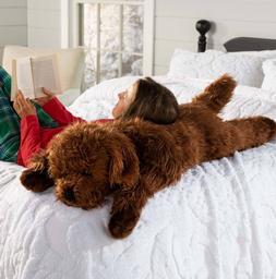 Plush Labradoodle Body Pillow