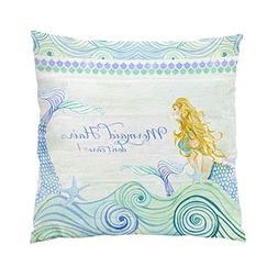 SokiiyPlushOcean Waves Mermaid Hair Tail Wooden Saying S