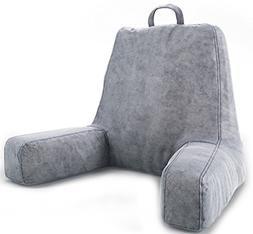 Ziraki Plush Shredded Foam Reading Relax Pillow for Bed Rest