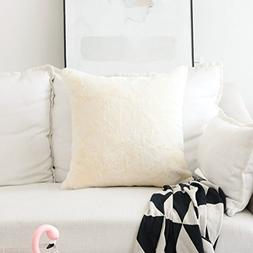 HOME BRILLIANT Plush Solid Faux Fur/Suede Large Euro Throw P