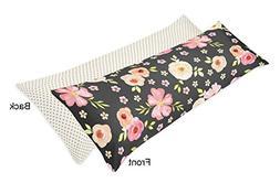 Sweet Jojo Designs Polka Dot Body Pillow Case Cover, Blush P