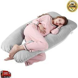 Polyester Multipurpose Maternity Pillow For Women Body U Sha