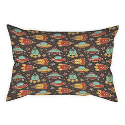 iPrint Polyester Throw Pillow Cushion Cover,Space,Outer Spac
