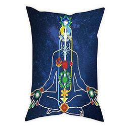 iPrint Polyester Throw Pillow Cushion Cover,Yoga,Scheme of P