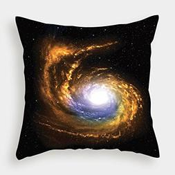 iPrint Polyester Throw Pillow Cushion Cover,Galaxy,Nebula Cl