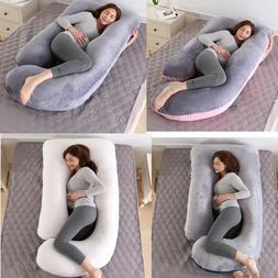 Pregnancy Pillow 57 inches Velvet Full Body Maternity Pillow