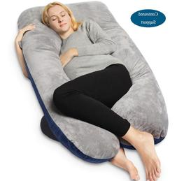 QUEEN ROSE Pregnancy Pillow and U-Shape Full Body Pillow wit