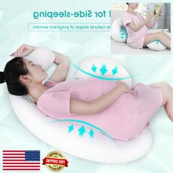 Pregnancy Pillow Contoured Maternity Body Support Adjustable