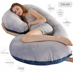 "Pregnancy Pillow Full Body Pillow Maternity Pillow 52"" C Sha"