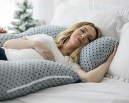 PharMeDoc Pregnancy Pillow U-Shape Full Body Pillow and Mate