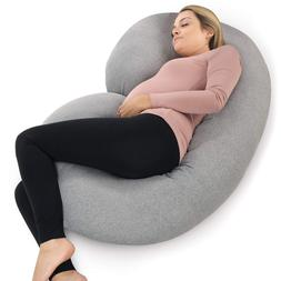 PharMeDoc Pregnancy Pillow with Jersey Cover, C Shaped Full
