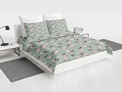 Pug White Bedding Sets Dogs with Various States Sitting Stan