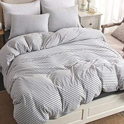 PURE ERA Duvet Cover Set Jersey Knit Cotton 1 Comforter Cove