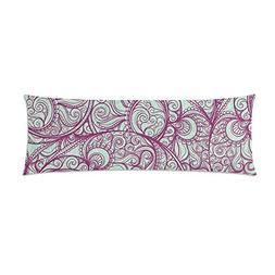 InterestPrint Purple Pattern Body Pillowcase Pillow Cover Pi