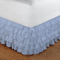 Floris Fashion Cal Queen 300TC 100% Egyptian Cotton Light Bl