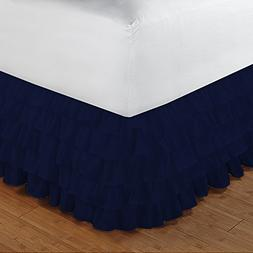Floris Fashion Queen XL 300TC 100% Egyptian Cotton Navy Blue