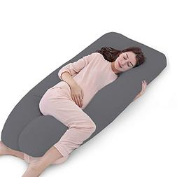 "QUEEN Size 55""Full Body Pregnancy Pillow Cover,Body Suppor"