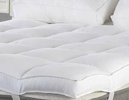 Queen Mattress Topper, Plush Pillow Top Mattress Pad/Bed Top