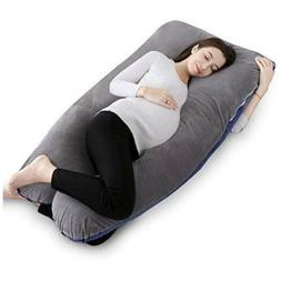 "QUEEN ROSE 55"" Pregnancy Pillow and Body Pillow with Velve"