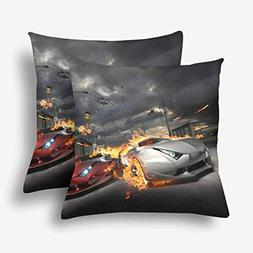 URDER Race My Own CarThrow Pillow Case Cushion Covers with Z