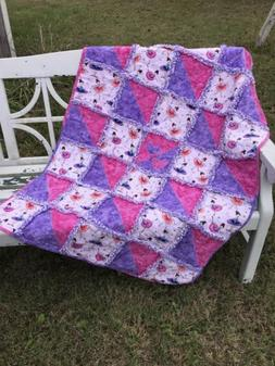 Handmade Rag Quilt with Matching Body Pillow
