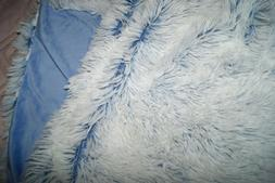 RE Room Essentials Body Pillow Cover Blue White Faux Fur Sof