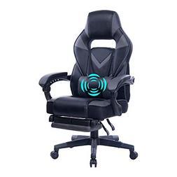 HEALGEN Reclining Gaming Chair with Adjustable Massage Lumba