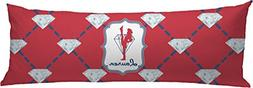 RNK Shops Red Diamond Dancers Body Pillow Case
