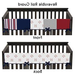 Sweet JoJo Designs Red, White and Blue Long Front Crib Rail