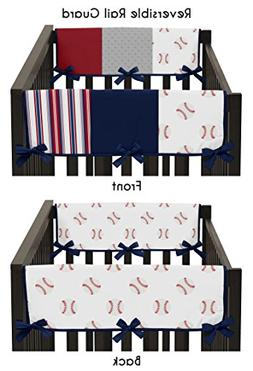 Sweet JoJo Designs Red, White and Blue Side Crib Rail Guards