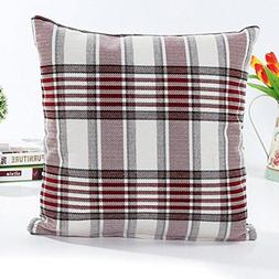 Retro Grid Home Body Pillowcases,Highpot Simpel Style Square