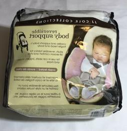 JJ Cole Reversible Baby Head Body Support Pillow Pink For Ca