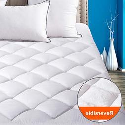 SOPAT Queen Mattress Pad Pillow Top Plush Mattress Topper Re