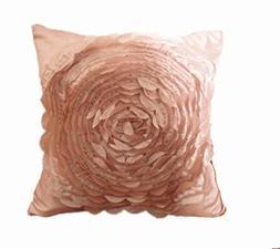 Highpot Rose Floral Home Decorative Satin Throw Sofa Body Pi