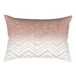 iLUGU Rose Gold Pink Square Pillowcase Home Decoration Cushi