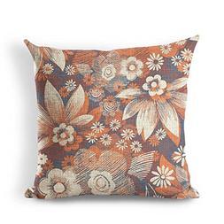 Rural Vintage Flower Series Cotton Linen Square Throw Pillow