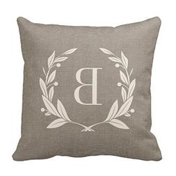 Kenny Rustic Laurel Wreath Monogram Throw R01f5caa106074bf98