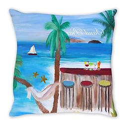 Sandbar Beach Double Sided Art Throw or Body Pillow case fro