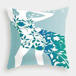 iPrint Satin Throw Pillow Cushion Cover,Floral,Fashion Woman