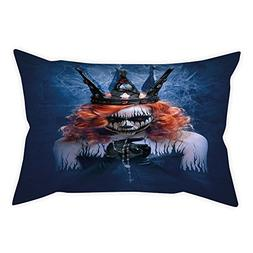 iPrint Polyester Throw Pillow Cushion Cover,Queen,Queen of D