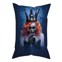 iPrint Cotton Linen Throw Pillow Cushion Cover,Queen,Queen o