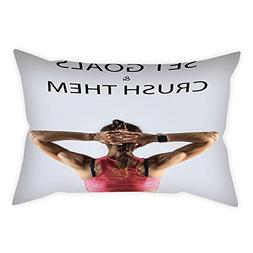 iPrint Cotton Linen Throw Pillow Cushion Cover,Fitness,Athle