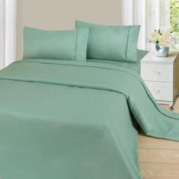 Lavish Home 1200 4-Piece Sheet Set, King, Sage