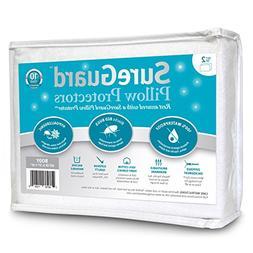 Set of 2 Body Size SureGuard Pillow Protectors - 100% Waterp