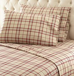 Thermee Micro Flannel Shavel Home Products Sheet Set, Fashio