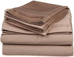Crafts Linen 4 Piece Sheet Set- 100% Natural Cotton 400 TC F