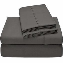 Crafts Linen 4 Piece Sheet Set- 100% Cotton 400 TC Fit Mattr